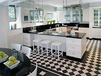 10 Contoh Motif dan Model Lantai Keramik Dapur Yang Bagus