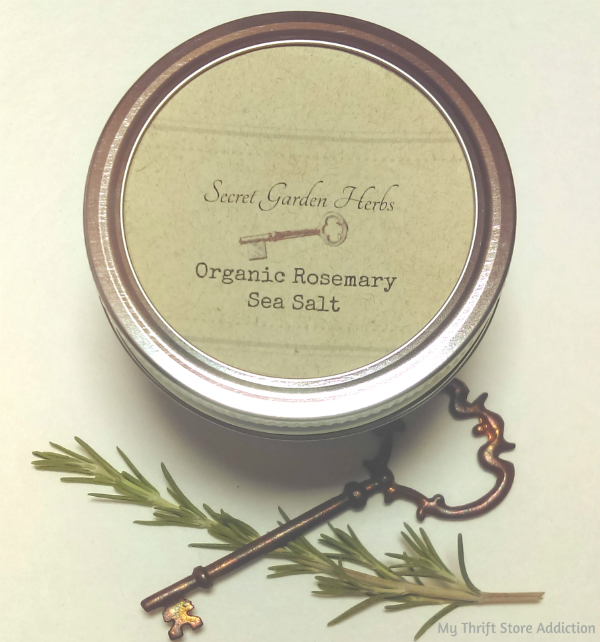 Secret Garden Herbs organic rosemary sea salt blend