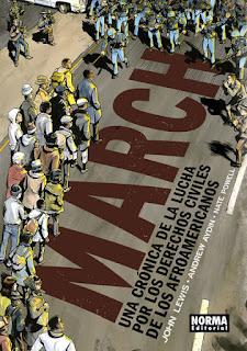 """Cómic: Reseña de """"March, una crónica de la lucha por los derechos de los afroamericanos"""" de Nate Powell - Norma editorial"""