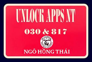 TUT UNLOCK APPS NGUYÊN THỦY 030 VÀ 817