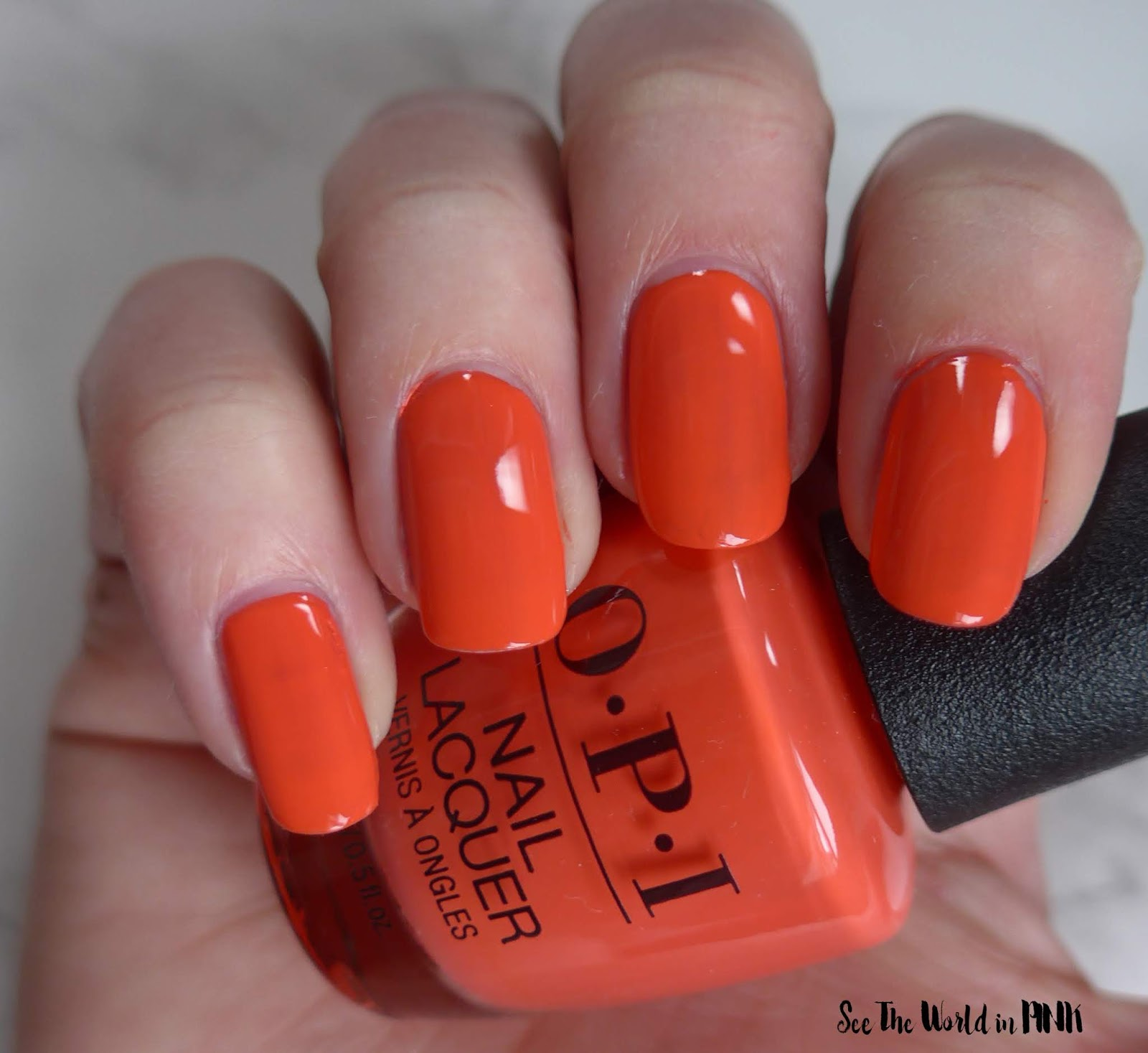 Manicure Monday - OPI Tokyo Collection for Spring and Summer 2019 Tempura-ture is Rising
