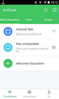 Como transferir arquivos do PC para o celular remotamente pelo AirDroid