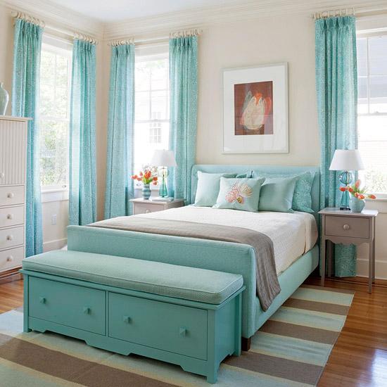 55 Dekorasi Kamar Tidur Sederhana Warna Cat Biru (Minimalis, Klasik, dan  Modern)   Desainrumahnya.com