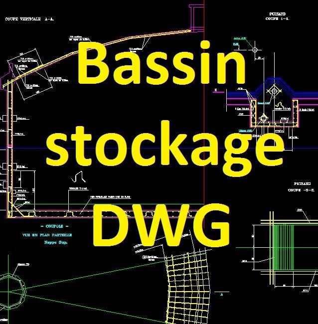 bassin de stockage dwg plan ferraillage capacit 300 m3. Black Bedroom Furniture Sets. Home Design Ideas