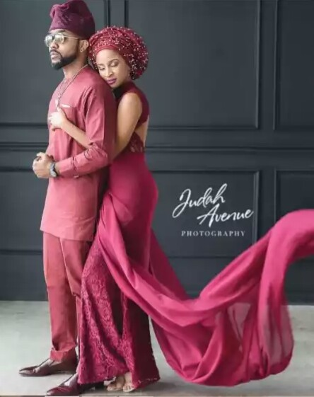 Bankyw and adesua love up picture