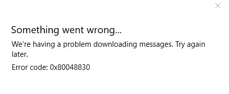 Error 0x80048830 in Windows 10 Mail App Fixed