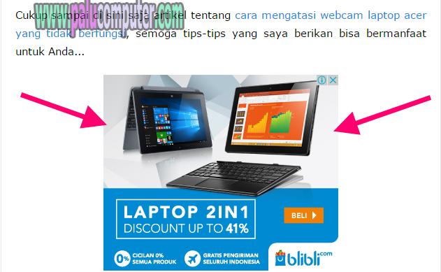 contoh iklan adsense bawah postingan
