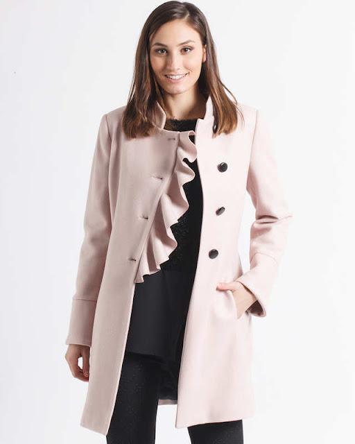 cappotto rosa femminile ruches
