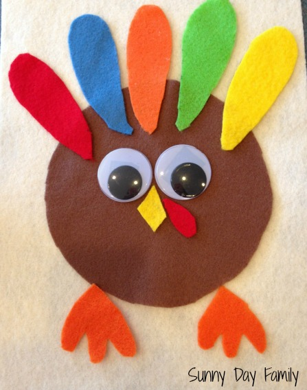 Felt Turkey Puzzle Busy Bag Activity Sunny Day Family