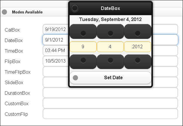 Date and Time Picker jQuery Plugin for Mobile | jQuery By Example
