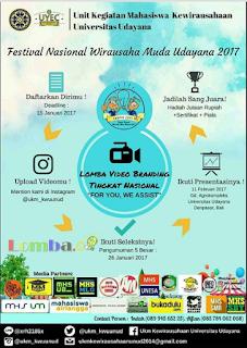 Lomba Video Branding Tingkat Nasional by Univ. Udayana
