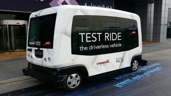 بالصور: دبي تختبر مركبات ذاتية القيادة
