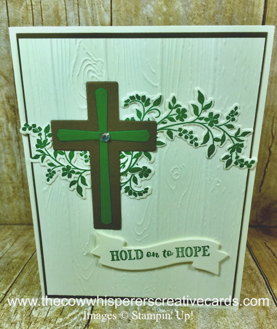 Card, Hold on to Hope, Cross of Hope, Pinewood Planks