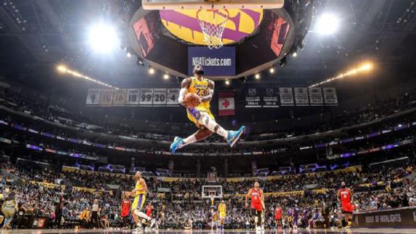 One of LeBron James' most memorable dunks during the 2019-'20 NBA regular season.