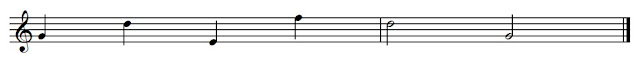 Notes on lines should have the line going through the middle of the note and occupy exactly half the spaces either side of the line