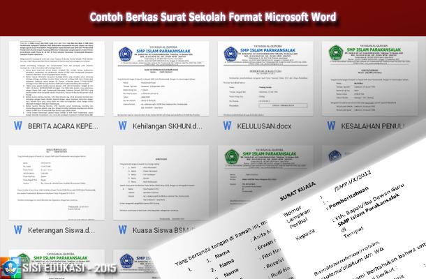 Contoh Berkas Surat Sekolah Format Microsoft Word