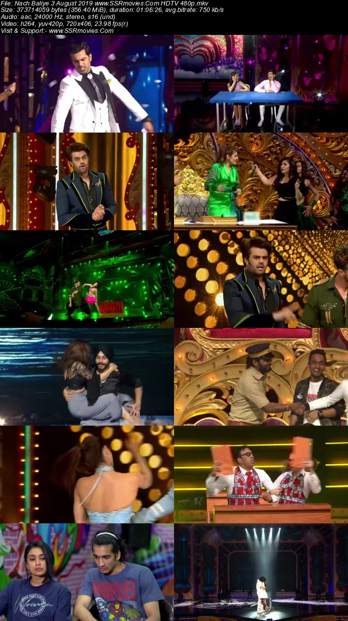 Nach Baliye 3 August 2019 HDTV 480p Full Show Download
