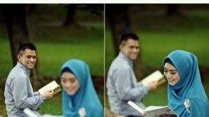 Trik Pre Wedding Outdoor Muslim dan Muslimah