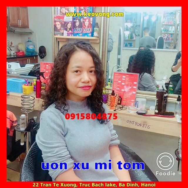 """UỐN TÓC XOĂN XÙ MÌ """"DI GAN"""" HOANG DÃ GIỐNG CA SỸ ĐỒNG LAN"""