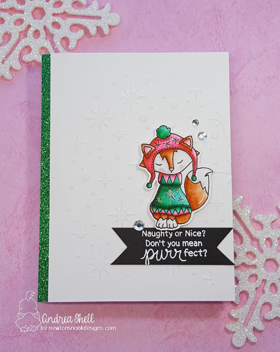 Fox in Sweater Card by Andrea Shell | Sweater Weather stamp set by Newton's Nook Designs #newtonsnook #handmade