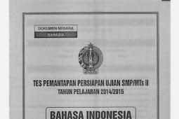 SOAL TPM atau TPPU tingkat SMP se-DIY (13-16 April 2015) BAHASA INDONESIA