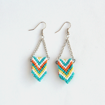 How to make friendship bracelet inspired earrings