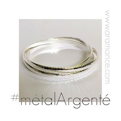 Bracelet 3 joncs métal argenté