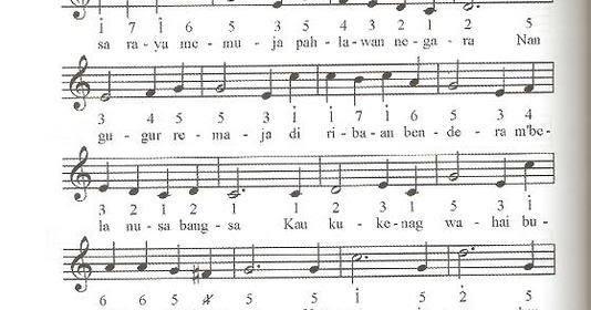 Not Angka Lagu Mengheningkan Cipta Partitur Lagu Terbaru