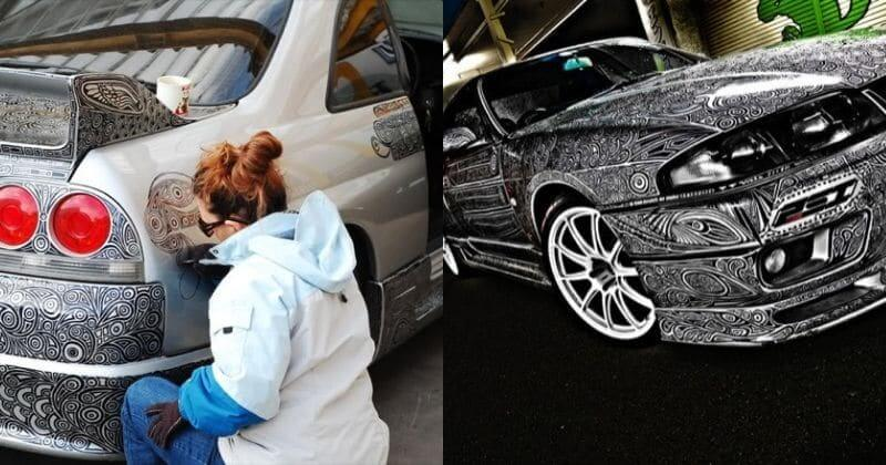 Creative Wife Transformed Her Husband's Car Into A Masterpiece