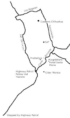 Map of Chihuahua, Chihuahua