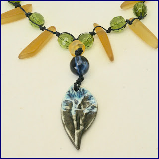 necklace by BayMoonDesign featuring focal by Mary Harding