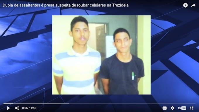 CAXIAS: Dupla de assaltantes é presa suspeita de roubar celulares na Trezidela
