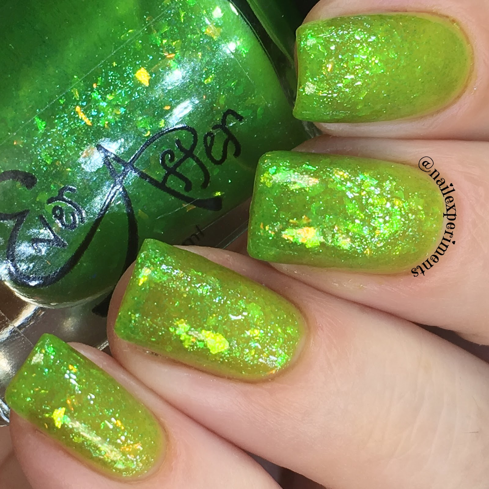 ever after polish flake it up jellies limearita swatch