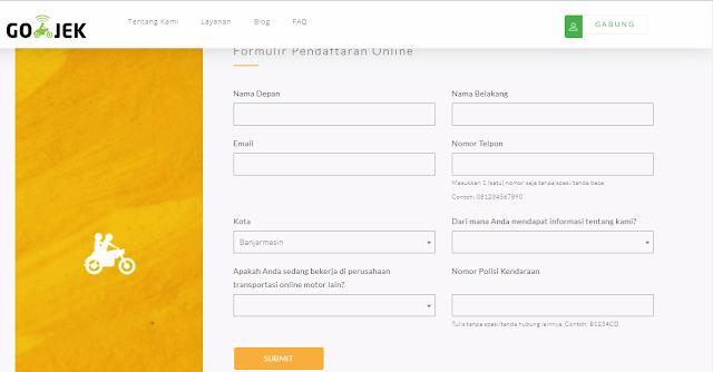 Cara Daftar Gojek Banjarmasin Via Email Online