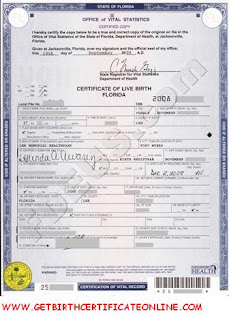 Obtaining A Florida Birth Certificate