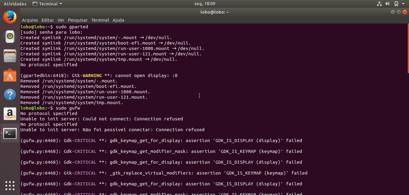 Linux dicas e suporte: Erro ? ao executar Synaptic, Gparted