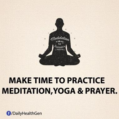 Sediakan Waktu Untuk Berlatih Meditasi, Yoga, dan Berdoa (Identitas)
