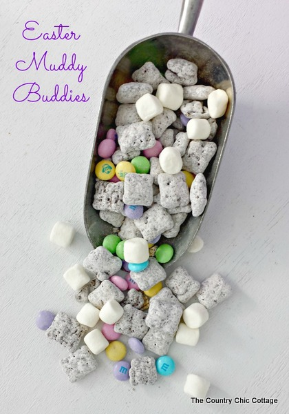 Easter Muddy Buddies Chex Mix - Spring Desserts & treats