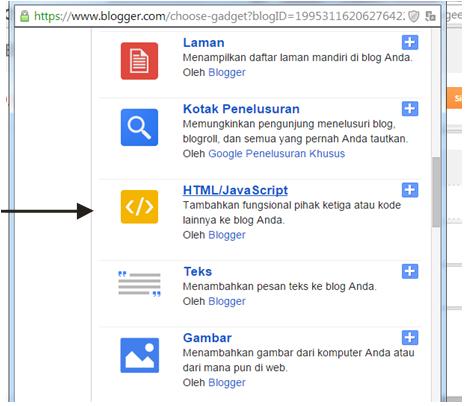 Memilih HTML/Javascript