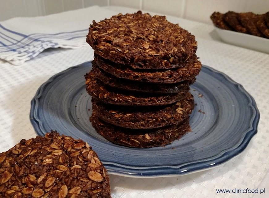 Czekoladowe ciasteczka owsiano-kokosowe