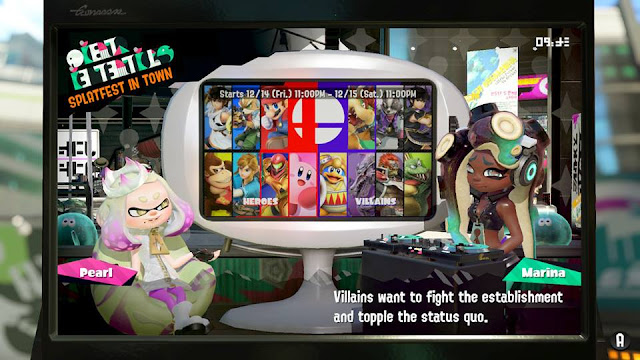 Splatoon 2 Splatfest Marina villains fight the establishment topple the status quo