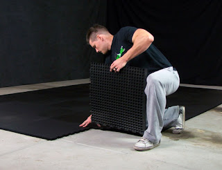 Greatmats interlocking rubber flooring installation