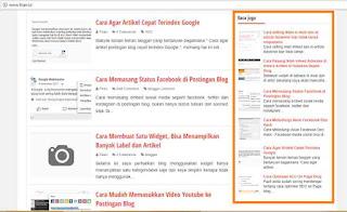 Cara Membuat Satu Widget, Bisa Menampilkan Banyak Label dan Artikel