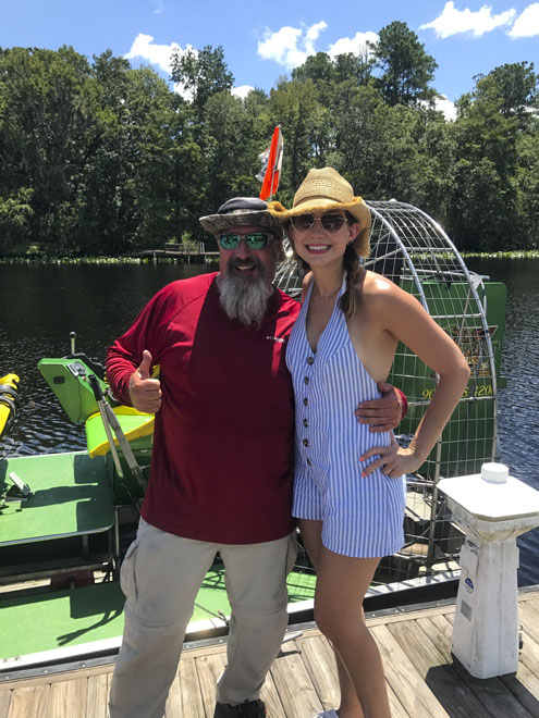 Amy West and Captain Mike of Sea Serpent tours