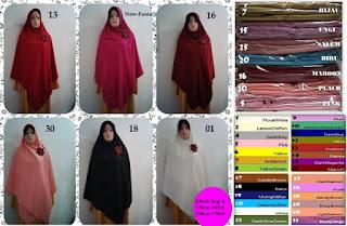 Jilbab segi empat syari tebal lebar bahan roberto