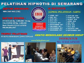 Pelatihan dan Sertifikasi Hipnotis Semarang 2017 2018