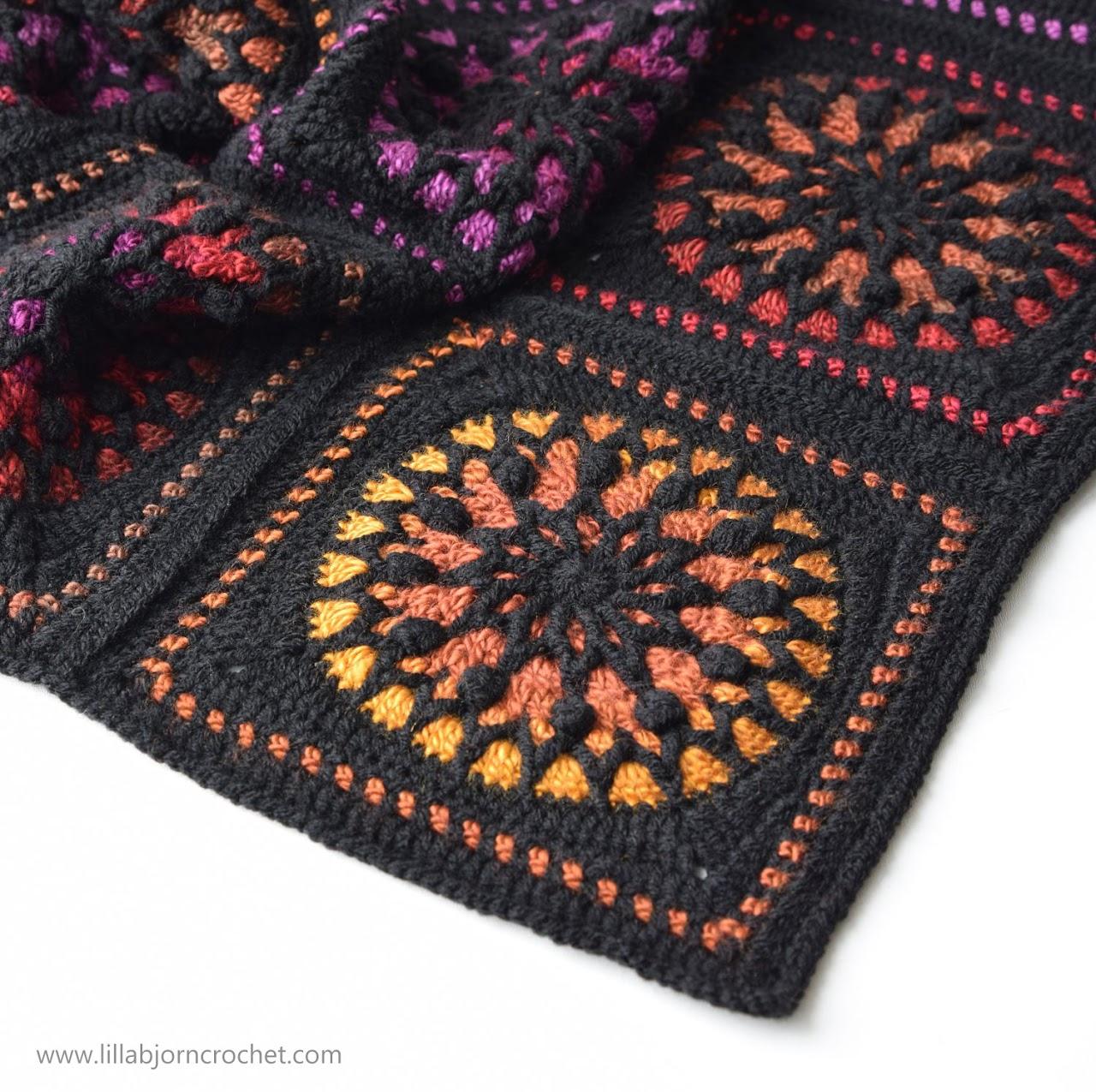 Stained Glass crochet square - pattern by www.lillabjorncrochet.com