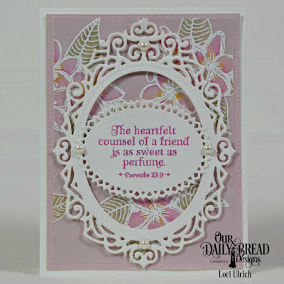 Our Daily Bread Designs Stamp Sets: Sweet as Perfume, Our Daily Bread Designs Paper Collection: Pastel Paper, Our Daily Bread Designs Custom Dies: Layered Lacey Ovals, Ovals, Ornate Ovals, Pierced Rectangles