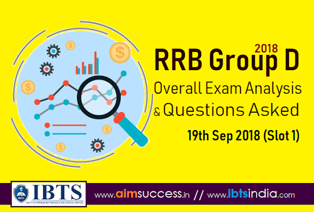 RRB Group D Exam Analysis 20th Sep 2018 & Questions Asked (Slot 1)