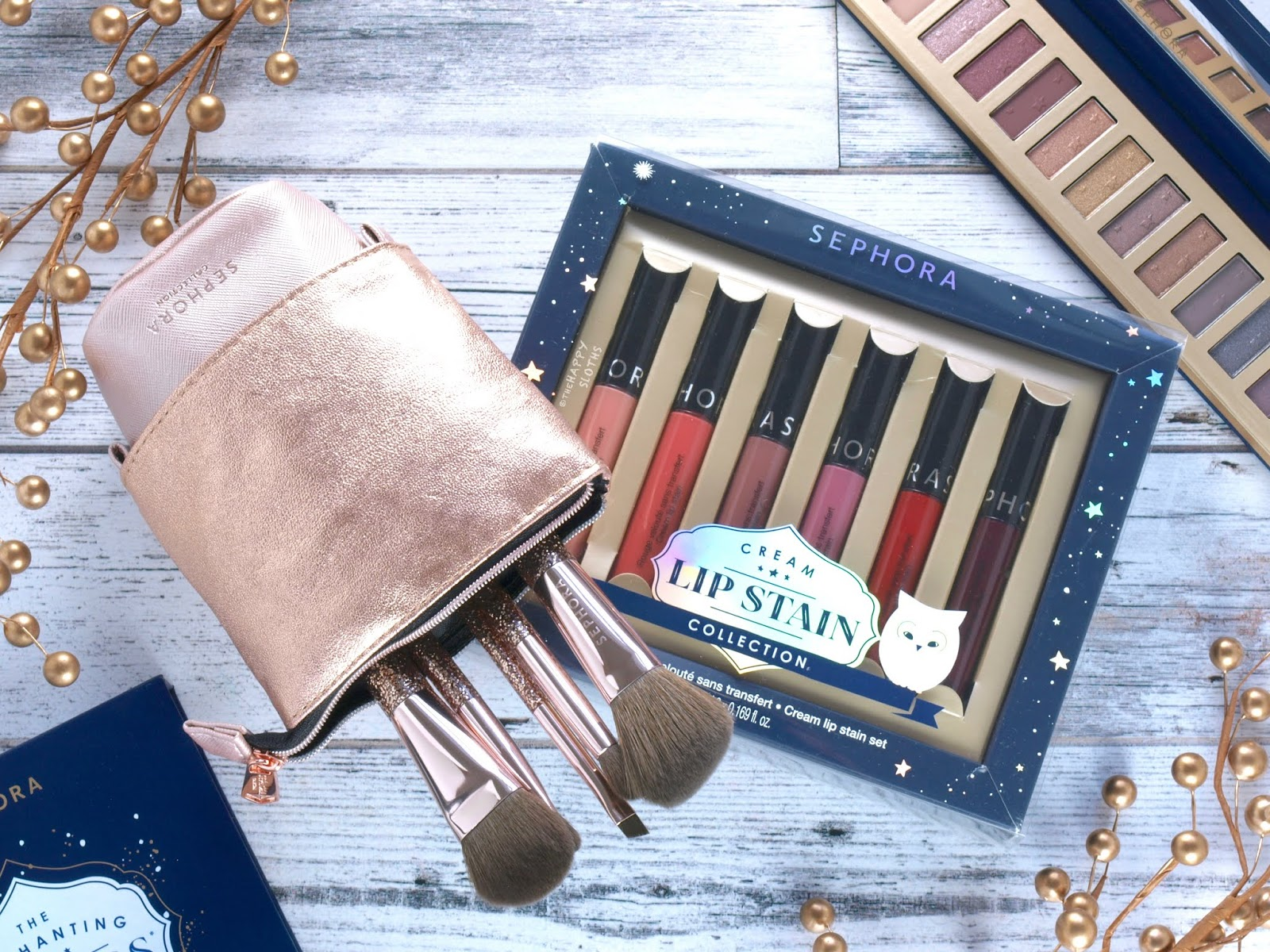 Sephora Collection | Holiday 2018 Collection | Cream Lip Stain Collection Set & Starlit Brush Set